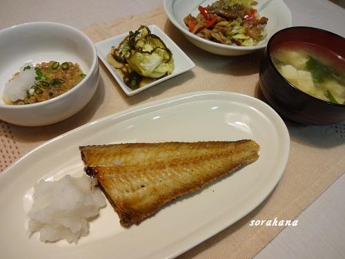 6月3日 ほっけの焼き魚