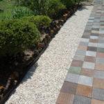 庭の雑草対策 ホームセンターで砂利250kgを買って敷く